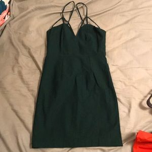 Nasty Gal green caged strappy dress